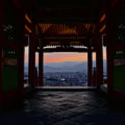 The Setting Sun And Kiyomizu-dera Poster