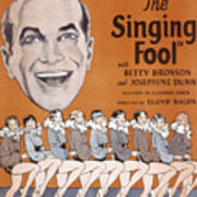 The Singing Fool, Al Jolson, 1928 Poster