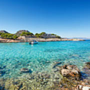 The Small Island Aponisos Near Agistri Island - Greece Poster