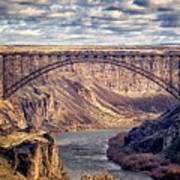 The Snake River At Twin Falls Idaho Poster