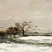 The Snow Poster by Charles Francois Daubigny