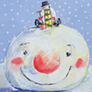 The Snowman's Head Poster