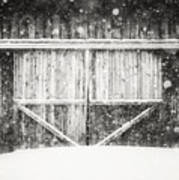 The Snowy Barn II Poster