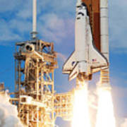 The Space Shuttle Discovery And Its Seven Poster