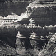 The Spectacular Grand Canyon Bw Poster