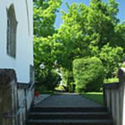 the stairs behind the Gottstatt Monastery church Poster
