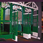 The Starting Gate Display In The Kentucky Derby Museum Poster