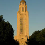 The State Capitol Building In Lincoln Poster