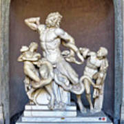 The Statue Of Laocoon And His Sons At The Vatican Museum Poster