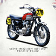 The Steve Mcqueen Isdt Motorcycle 1964 Poster