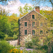 The Stone Mill In Spring Poster