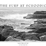 The Surf At Schoodic Poster