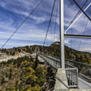 The Swinging Bridge Of Grandfather Mountain Poster