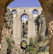 The Tajo De Ronda And Puente Nuevo Bridge Andalucia Spain Europe Poster