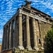 The Temple Of Antoninus And Faustina Poster