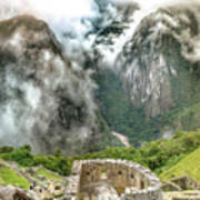 The Temple Of The Sun. Machu Picchu Poster