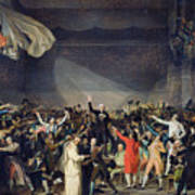 The Tennis Court Oath Poster by Jacques Louis David
