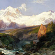 The Teton Range, 1897 Poster