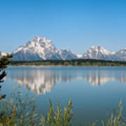 The Tetons On Jackson Lake - Grand Teton National Park Wyoming Poster
