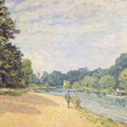The Thames With Hampton Church Poster