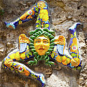 The Three-legged Symbol Of Sicily, Italy - Trinacria  Poster