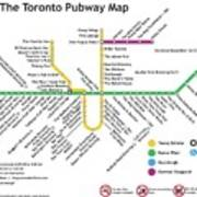 The Toronto Pubway Map Poster