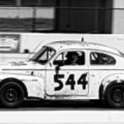 The Tortoise -- 1963 Volvo Pv544 At The 24 Hours Of Lemons Race, Sonoma California Poster