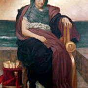 The Tragic Poetess Poster by Frederic Leighton