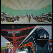 The Train Station At Portsmouth Ohio Poster