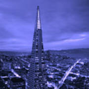 The Transamerica Pyramid At Sunset Poster