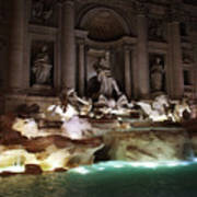 The Trevi Fountain In Rome Poster