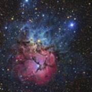 The Trifid Nebula Poster