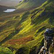 The Trotternish Hills From The Quiraing Isle Of Skye Poster