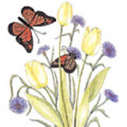 The Tulip And The Butterfly Poster