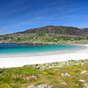 The Turquoise Water Of Dogs Bay Roundstone Ireland Poster