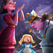The Two Queens, Nursery Art Poster
