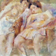 The Two Sleepers Poster by Jules Pascin
