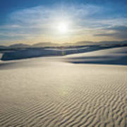The Unique And Beautiful White Sands National Monument In New Me Poster
