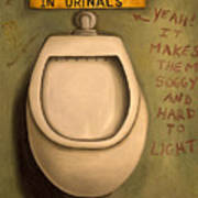 The Urinal Poster by Leah Saulnier The Painting Maniac