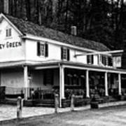 The Valley Green Inn In Black And White Poster