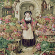 The Vegetable Stall  Poster