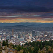 The View From Pittock Mansion Viewpoint Poster