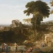 The Villa Fountain Poster