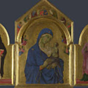 The Virgin And Child With Saints Dominic And Aurea Poster