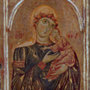 The Virgin And Child With Two Angels Poster