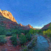 The Watchman Zion National Park Poster