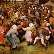 The Wedding Dance Poster by Pieter the Elder Bruegel