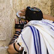 The Western Wall, Jewish Man Wearing Poster