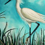 The White Egret Poster