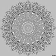 The White Mandala No. 4 Poster